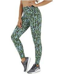 calça legging oxer pagg - feminina - azul cla/verde esc