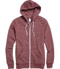 alternative apparel modern fit rocky eco-fleece hoodie currant