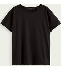 scotch & soda gemerceriseerd katoenen t-shirt