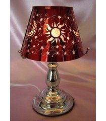 red celestial touch lamp oil/tart warmer - use with scentsy wax