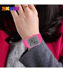 hombres y mujeres = reloj impermeable led-rojo