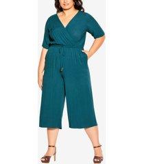 city chic trendy plus size palm villa jumpsuit