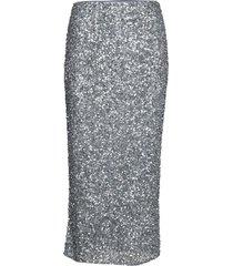 siralie long sequin skirt knälång kjol grå andiata