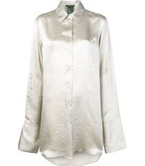 ann demeulemeester long blouse - grey