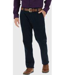 pantalón van heusen gabardina elasticada azul - calce regular