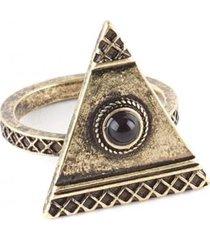 anillo cleopatra dorado humana