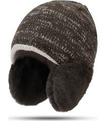 cappello invernale lavorato a maglia da donna con berretto in lana lavorato a maglia