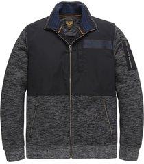 pme legend psw206417 5288 zip jacket slub sweat blue