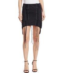 re-edition aviator mini skirt