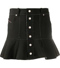 diesel two-tone bonded skirt - black
