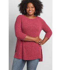 lane bryant women's softest touch boatneck tunic 18/20 pickled beet