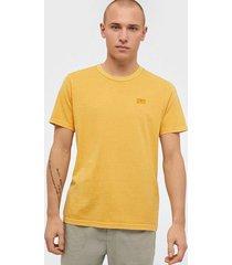 levis authentic crewneck tee golden t-shirts & linnen yellow/orange