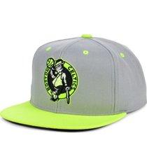 mitchell & ness boston celtics volt snapback cap