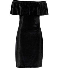 abito in  velluto con spalle scoperte (nero) - bodyflirt