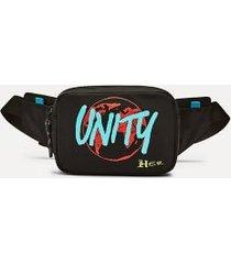 tommy hilfiger women's lewis hamilton x h.e.r. unity fanny pack black -