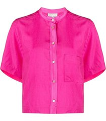 cupro shirt with silk details
