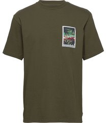 crewneck tee with chestpocket and small logo print t-shirts short-sleeved grön scotch & soda
