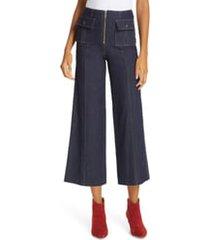 cinq a sept azure crop wide leg jeans, size 2 in indigo at nordstrom