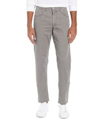 men's brax ice straight leg cotton twill five-pocket pants, size 36 x 34 - grey