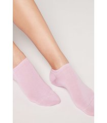 calzedonia unisex cotton no-show socks man pink size 37-39