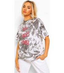 90's vibes only oversized t-shirt met tekst, black