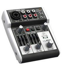 mesa de som behringer xenyx 302usb mixer analógico bivolt preto
