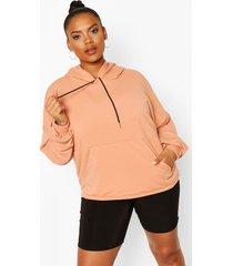 plus seam detail hoodie, coral