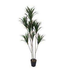 vaso dracena- pashmina- folhagem artificial- verde