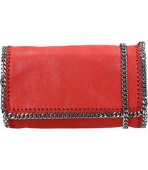stella mccartney falabella shoulder bag in red faux leather