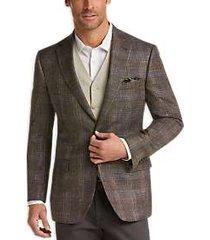 joseph abboud brown plaid modern fit sport coat