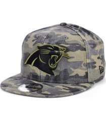 new era men's carolina panthers worn camo 9fifty cap