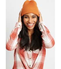 maurices womens orange cuffed beanie