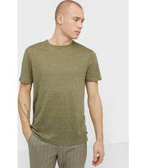 j lindeberg coma-clean linen t-shirts & linnen green