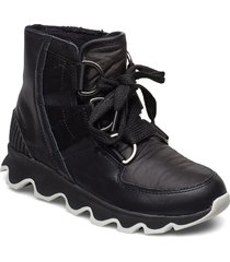 kinetic short lace shoes boots ankle boots ankle boots flat heel svart sorel