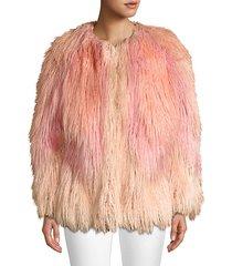 mongolian faux fur jacket