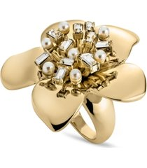 zaxie in bloom flower cocktail ring