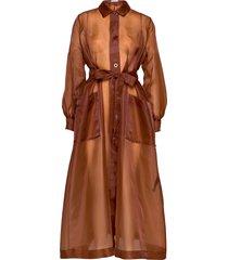 chantara coat 12854 maxiklänning festklänning brun samsøe samsøe