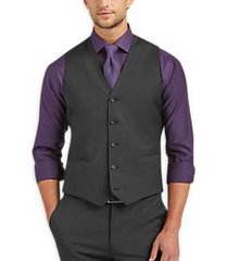awearness kenneth cole awear-tech charcoal extreme slim fit suit separates vest