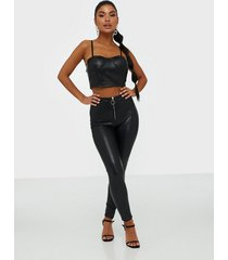 parisian zip front pu leggings leggings
