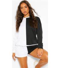 colour block sweatshirt, black