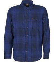 overhemd lange mouw lee riveted shirt washed blue