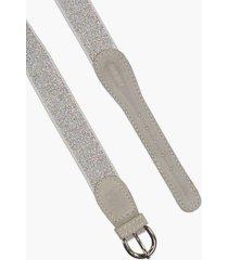 cinturón plata cheeky glitter
