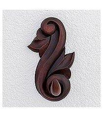 wood coat hook, 'antique detail' (costa rica)