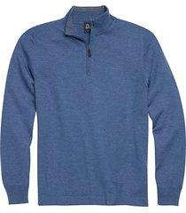jos. a. bank traveler men's slate blue modern fit 1/4 zip mock neck sweater - size: 3x