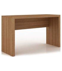 mesa escritório amêndoa me4135 tecno mobili videira marrom