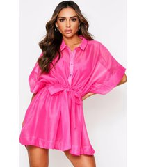 'neave' mesh dress, fushia