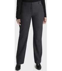 pantalón formal pierna recta gris lorenzo di pontti