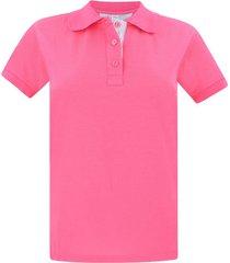 camiseta tipo polo para mujer rosada hamer fondo entero