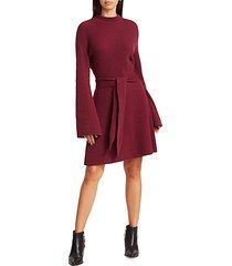 abhaya ribbed tie-waist sweater dress
