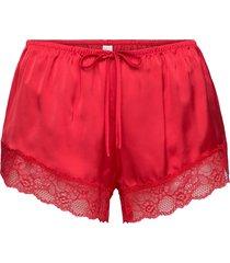 short satin meili shorts röd hunkemöller
